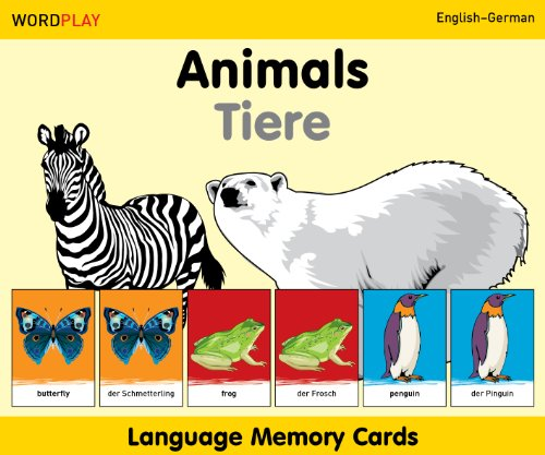 Language Memory Cards - Animals - English-German (Wordplay)