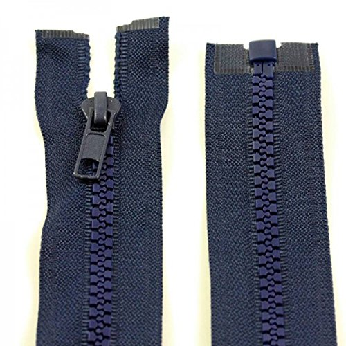 """5 x YKK invisible concealed plastic teeth zips 8/"""" blue FREE UK P/&P 20 cms"""