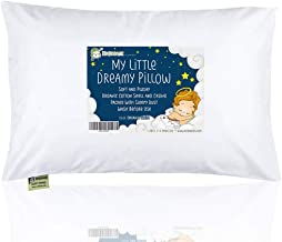 KeaBabies Toddler Pillow with Pillowcase - 13X18 Soft Organic Cotton Baby Pillows for Sleeping - Machine Washable - Toddlers, Kids, Infant - Perfect for Travel, Toddler Cot, Bed Set (Soft White)
