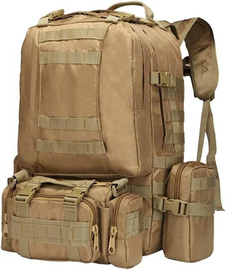 Military Tactical Assault Pack Army Backpack 50L Molle Bug Out Bag Backpacks Small Rucksack for Outdoor sports Hiking Camping Trekking Hunting