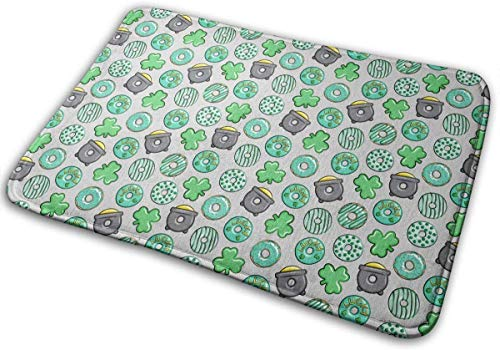 "BLSYP Felpudo Mint Doughnuts Doormat Anti-Slip House Garden Gate Carpet Door Mat Floor Pads 15.8"" X 23.6"""