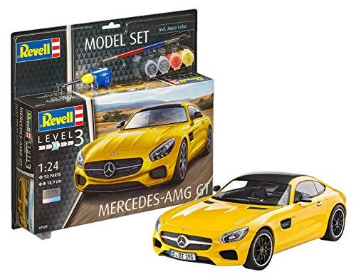 Revell Revell_67028 Modellbausatz Auto 1:24 - Mercedes-Benz AMG GT im Maßstab 1:24, Level 3, originalgetreue Nachbildung mit vielen Details, , Model Set mit Basiszubehör, 67028