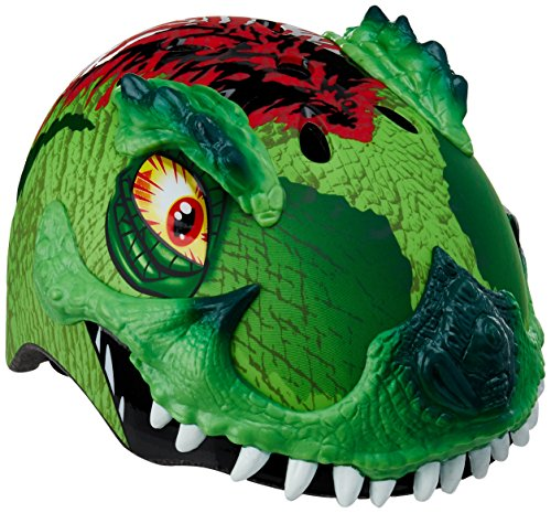 Raskullz 2015 Boy's T-Rex Awesome 5+ Kids/Youth Bicycle Helmet (Green - 50-54cm)