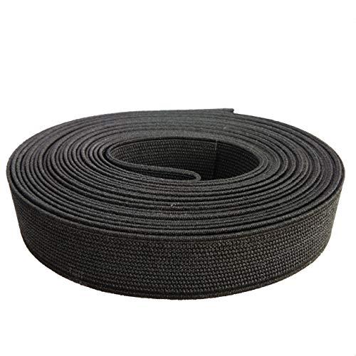 CUSHYSTORE Black 3/4 inch Elastic Band Strap for Sewing Waistband 5 Yards