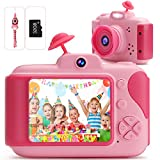 Kids Camera FHD Digital Video Camera 2.5-inch IPS Screen Toddler Toy Camera with 32GB SD Card Rechargeable Children Camera Gifts for Birthday/Christmas/New Year for age 3 4 5 6 7 8 9 10 Year Old