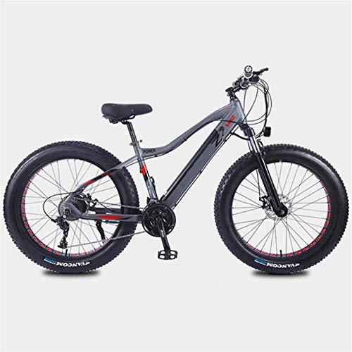 Alta velocidad Las bicicletas de montaña eléctricas 350W 26in Fat Tire E-bici con el sistema de transmisión de 27 velocidades y Tiempo de carga 3 horas de batería de litio (10AH36V), el rango de 35 Ki