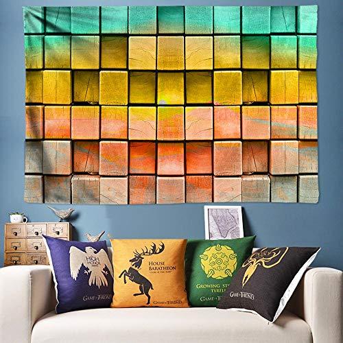 mmzki Fliesen Textur Wandkunst Hippie Tapisserie Böhmen Wandteppich hängen Boho Wand Teppich Hintergrund Tuch 3D Wandmalerei Tapisserie-230X150CM