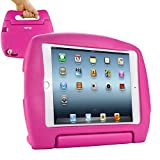 KHOMO Compatible with Apple iPad Mini 4 Shockproof Case for Kids, Hot Pink