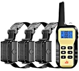 1100 YD Remote Dog Training Shock Collar w/ Auto Anti Bark, Humane Beep, Vibration, Static Shock and Waterproof Long Lasting Rechargeable Battery for Small Medium Large Dogs