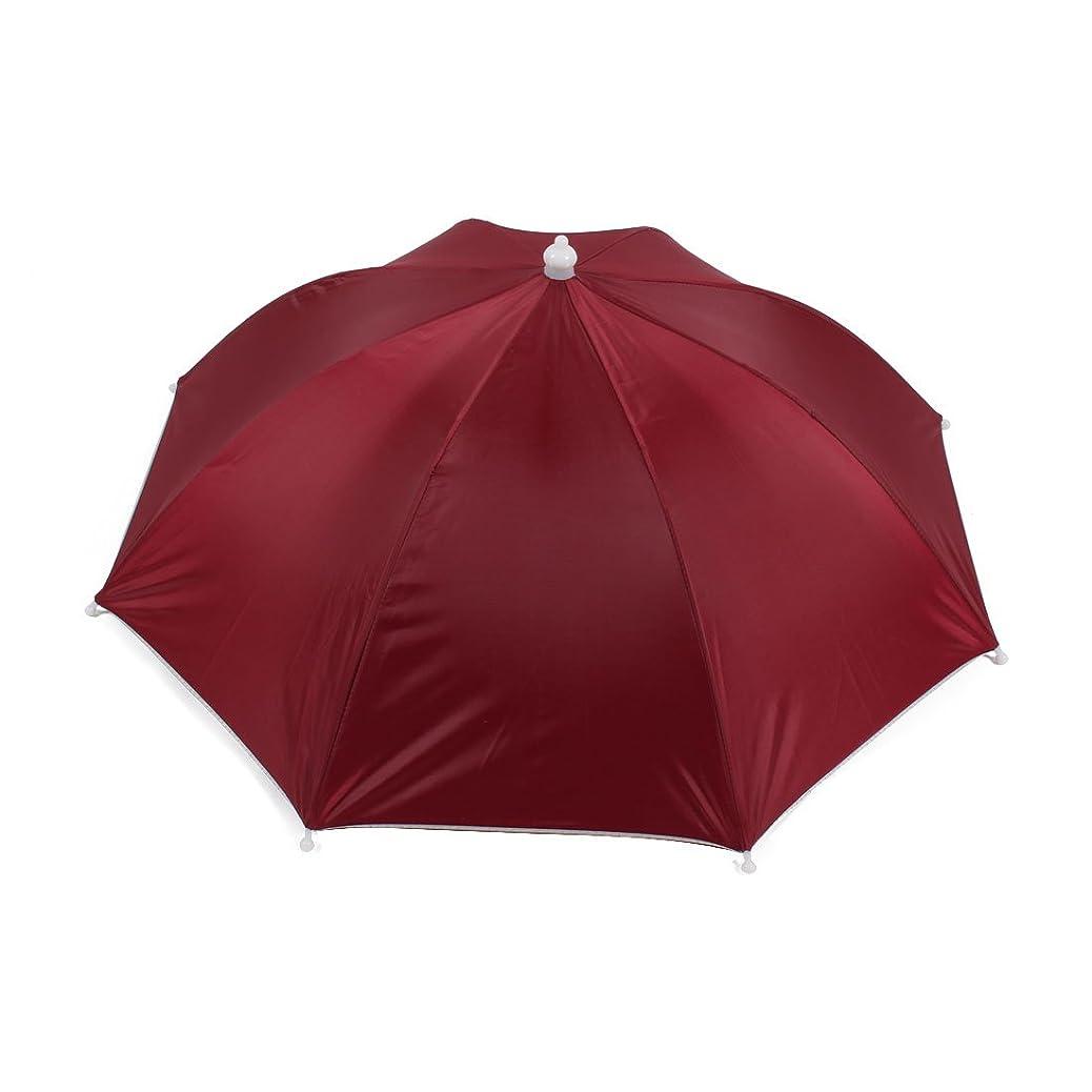 問い合わせる不規則な一掃するuxcell 釣り傘 傘帽子 釣り用 ヘッドバンド 傘帽子 ポリエステル メタル バーガンディー 伸縮性がある ヘッド 釣り ハット 帽子