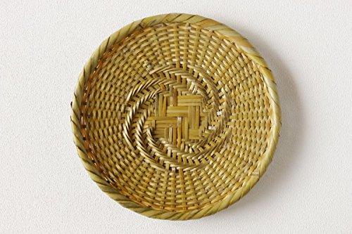 【かごや】白竹 蕎麦ざる(戸隠風 竹ざる) 直径約24cm (7403)