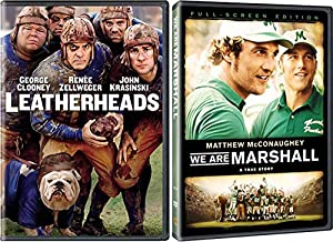 We Are Leather Heads Football Double Feature DVD We are Marshall Matthew McConaughey + Leatherheads George Clooney 2 Pack