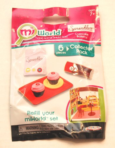 Mi World Collector Pack - Sprinkles Cupcake Bakery - 2 Cupcakes, 1 Plate, 1 Tray, 1 Cupcake Mix and 1 T Shirt