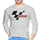maichengxuan Moto GP Camiseta de algodón para Hombre Camiseta cómoda de Manga Larga para Hombre Negro