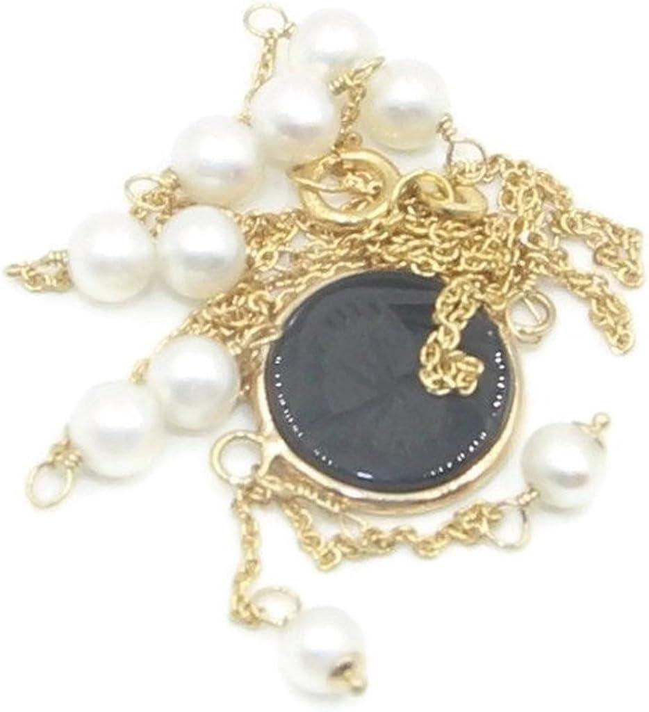 Sophia Fine Jewelry Freshwater Pearl White & Black Onyx Lariat 17