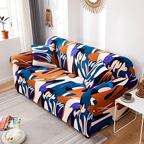 Funda de sofá con Estampado nórdico, Funda de sofá firmemente Envuelta, Funda de sofá elástica elástica de Spandex, Adecuada para el sofá de la Esquina del Asiento A16 de 3 plazas