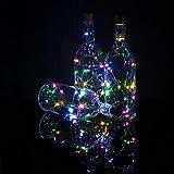 Fantado PaperLanternStore.com Bulk Pack (3) Real Cork RGB Multi-Color LED Wine Bottle Stopper Lamp Fairy String Light