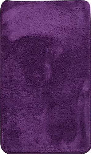 Alfombra de Salón   Alfombra Dormitorio Despacho Pelo Largo Suave y Moderna Color (Violeta, 160_x_200_cm)