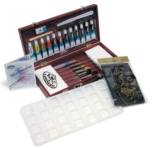 Royal & Langnickel RSET-WAT2000 – Juego de acuarelas en caja de madera