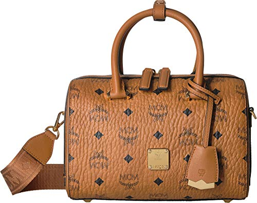 Keep all your essentials protected and pristine in this stylish MCM™ Essential Visetos Original Boston 23 Handbag. Handbag made from durable coated visetos canvas. Dual top zipper closure. Iconic brand logo emblem printed throughout. Dual wrapped top...
