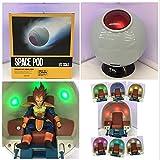 LTTXJ Dragon Ball Anime Goods Vegeta Super Saiyan Space Cápsula Nave espacial luminosa en caja de de...
