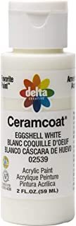 Delta Creative Ceramcoat Acrylic Paint in Assorted Colors (2 oz), 2539, Eggshell White