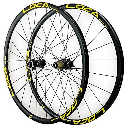 ZCXBHD MTB Anteriore + Posteriore Ruota 26/27,5/29 Pollici Mountain Bike Set di Ruote Perno Passante 8-12 velocità 24 Fori Ultraleggero Lega Alluminio (Color : C, Size : 29in)