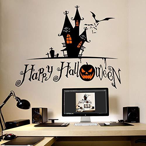 BLOUR Venta de Halloween Nuevo Castillo Oscuro Tallado Cabeza de Calabaza Pegatinas de Pared Pegatinas en la Oscuridad Horror Glow Pokemon decoración Cocina