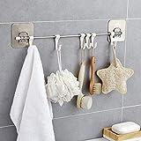 2 pezzi Holder Towel Rack Parete asciugamano appeso gancio Bagno Organizzatore Cucina Wardrobe portasciugamani bagagli scaffale Asciugamani Hanger Porta Asciugamani