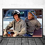 No Frame Canvas Oil ng Dumb and Dumber Bathroom Jim Carrey Movie Funny Toilet Poster Prints Art Wall re Living Room Home Decor40x60cm