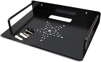 Black Menba Alumimum Alloy Wall Mount Shelf Bracket for TV Accessories WiFi Router TV Box Set Top Box (Black, 33 x 21 cm)