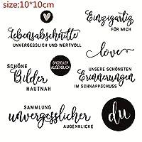 ドイツ語透明シリコーンゴムスタンプシートしがみつくスクラップブッキングDIYかわいいパターンフォトアルバムスタンプ