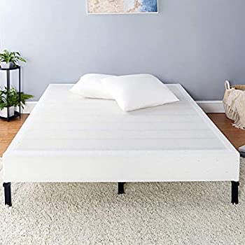 Amazon Basics Mattress Foundation / Smart Box Spring for Cal King Size Bed Tool-Free Easy Assembly - 9-Inch Cal King