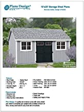 Building Blueprints Shed Plans 10' x 20' Reverse Gable Roof Style Design #..