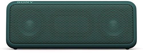 Sony SRS-XB3 tragbarer kabelloser Lautsprecher (Extra-Bass, wasserabweisend, NFC, Bluetooth, 24 Stunden Akkulaufzeit) grün