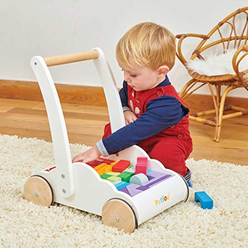 Le Toy Van - Petilou Wooden Educational Rainbow Cloud Walker Toy For Toddlers And Babies | Suitable For A Boy Or Girl 1 Year Old +
