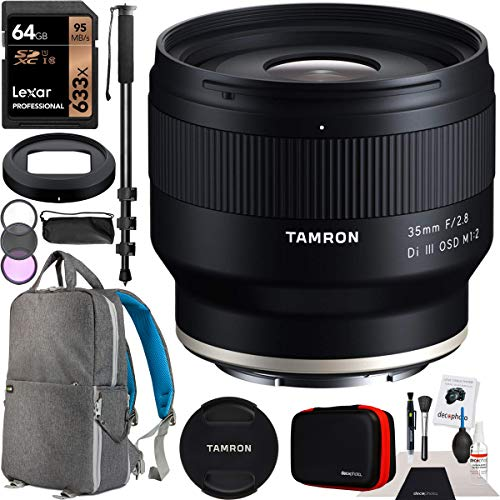 Tamron 35mm F/2.8 Di III OSD M1:2 Lens (Model F053) for Sony E-Mount Full-Frame Mirrorless Camera Bundle with Premium Accessory...