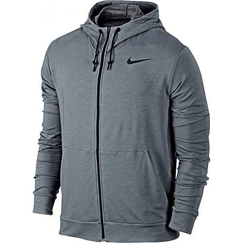 Nike Herren Dri-Fit Training Fleece Hoody, Cool Grey/Black, XL