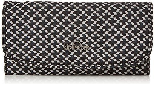 Kipling Damen SUPERMONEY Geldbörse, Mehrfarbig (Retro Geo Black), 20x10x3 cm