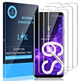 LK [3 Stück Schutzfolie für Samsung Galaxy S9, Samsung Galaxy S9 Folie, [Fingerabdruck-ID unterstützen][Blasenfreie] Klar HD Weich TPU Bildschirmschutzfolie