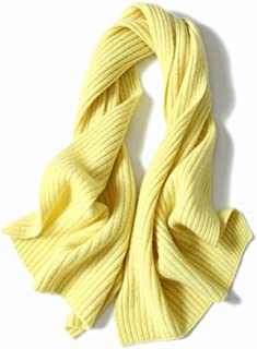 Scarves Scarf Scarves Women's Scarf Winter Thicken Scarf Solid Color Cashmere Scarf Short Warm Scarf Scarves (Color : Yellow)