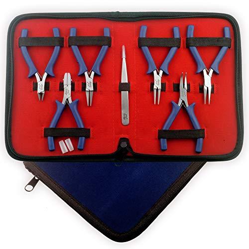 Prestige Mini Zangen Set Perlung Werkzeugset Goldschmiedebedarf mit Nylon Kieferzangen #1798