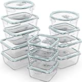 Razab 24 Pc Glass Food Storage Containers Airtight Lids Microwave/Oven/Freezer & Dishwasher Safe -...