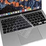 MOSISO TPU Copertura per Tastiera Solo Compatibile con MacBook Air 13 Pollici A2337 M1 A2179 2020 Rilasciato,Backlit Magico Tastiera con Retina Display & Touch ID, Protezione Morbida Skin, Trasparente