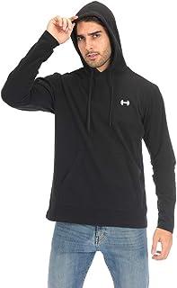 ARCHAEUS Men's Hooded Shirt Long Sleeve Quick Dry Tops Lightweight Running Shirt S-XXL