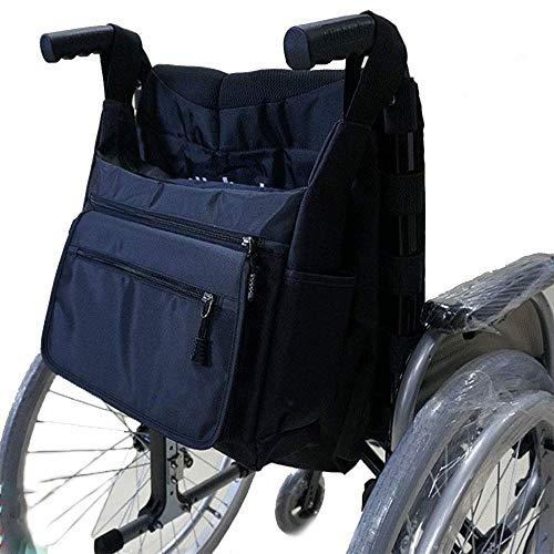 WXQY Rollstuhl-Rückentasche, Rollstuhltasche Rollstuhl-Aufbewahrungstasche Zubehör Lose Gegenstände und Zubehör Rollstuhltasche Schwarz