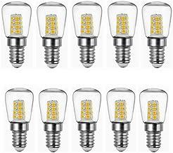 LED Lamp 10-Pack 2W E14 Refrigerator LED Bulb AC220V Bright Indoor Lamp for Fridge Freezer Crystal Chandeliers Lighting Li...