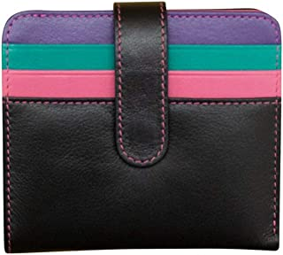 ili New York 7301 Leather Snap Bifold Wallet with RFID Blocking Lining