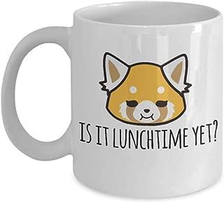 Is It Lunchtime Yet? Aggretsuko Retsuko Anime Coffee Mug, aggresive retsuko, retsuko, netflix, protein, red panda, karaoke, death metal, metal, japan,