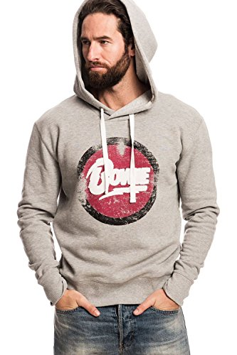 DAVID BOWIE - DISTRESSED LOGO - OFFICIAL MENS HOODIE